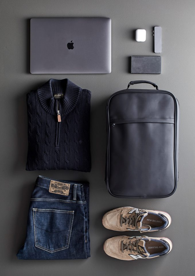 baltimore travel ryggsäck, packad