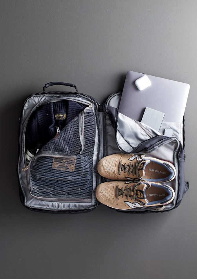 baltimore travel ryggsäck, packad 2